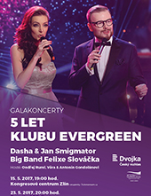 5 let Klubu EvergreenJan Smigmator, Dasha, Big Band Felixe Slováčka a hosté