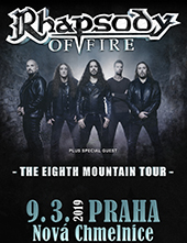 The Eight Mountain Tour Rhapsody of Fire + special guests
